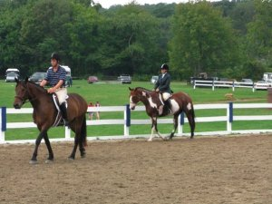 Riding at the 'Over the Hill' Show