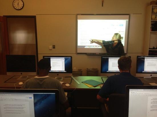 Natalie workshops student news writing