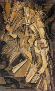 Marcel Duchamp, Nude Descending a Staircase.  Collection Philadelphia Museum of Art