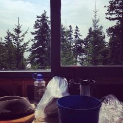 Studio hermit view, Maine