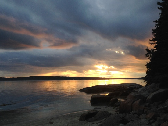 Sunset on the summer, Maine