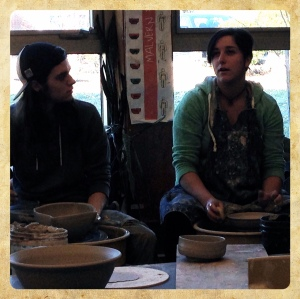 Two 'nos' mean 'yes.' Ryan & Shannon talking bowls.